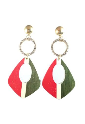 La Miina red Gracieux Red Vintage Earrings BFBEBACDA8E0A8GS_1