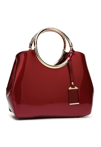 Twenty Eight Shoes red VANSA Classic Patent Leather Hand Bag VBW-Hb301 58DA4AC52E084AGS_1