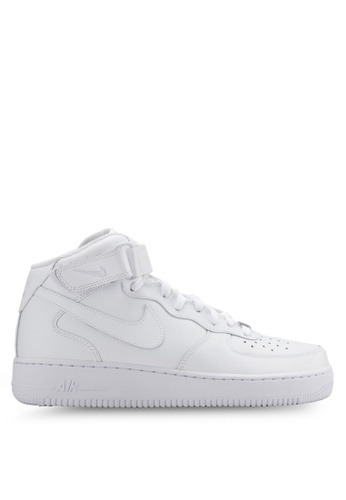 Nike white Women's Nike Air Force 1 '07 Mid Shoes NI126SH18YGFMY_1