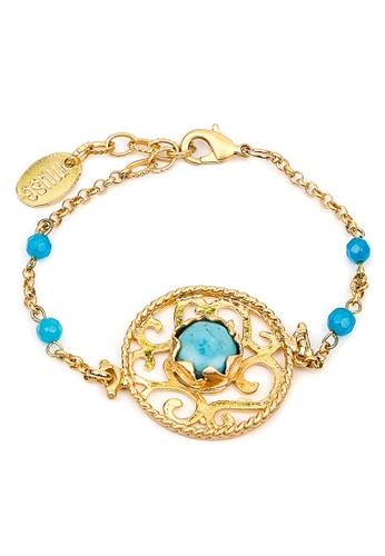 Silverworks blue Artic Filigree Bracelet SI696AC69VCKPH_1