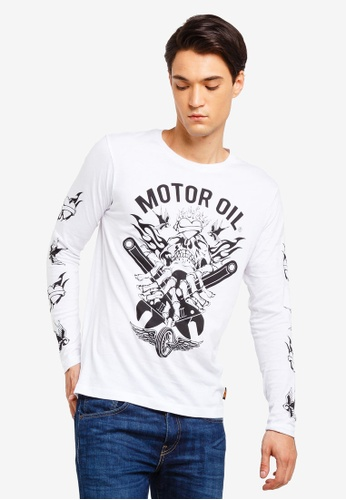bc9a932ad48 Buy Brave Soul Printed Long Sleeve T-Shirt Online   ZALORA Malaysia