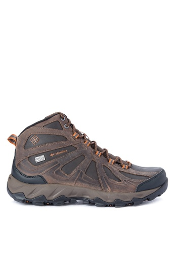 Columbia brown Peakfreak Xcrsn Ii Mid Leather Outdry Men's Shoes CO143SH0KCVQPH_1