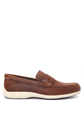 Rockport brown Aiden Penny Loafers RO474SH90KABPH_1