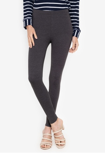 MARKS & SPENCER grey Cotton Rich Leggings 10662AA3804520GS_1