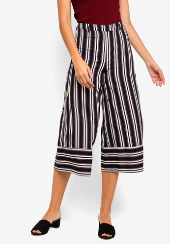 ZALORA multi Wide Leg Pants With Piping Details 950BEAA46C27DEGS_1