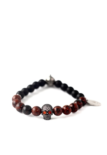 Gnome and Bow red Helmskull Bracelet 9C91DAC4501645GS_1
