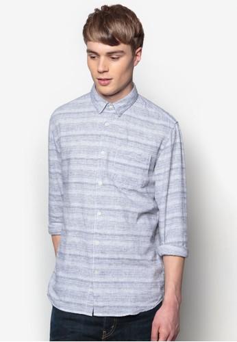 Ingi 條esprit hong kong 分店紋長袖襯衫, 服飾, 服飾