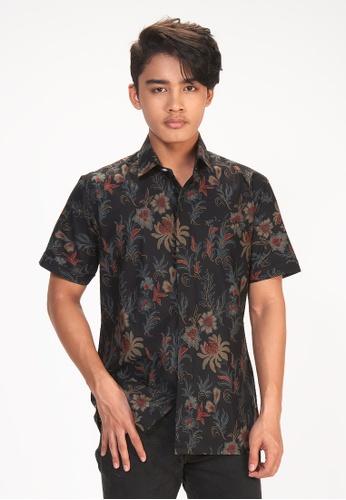House Of Olsha black Cotton Batik Shirt - Kekwa 6F78EAA0C8B963GS_1