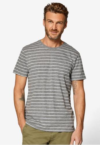 5ba35508 Buy ESPRIT Stripe Pocket T-Shirt Online on ZALORA Singapore