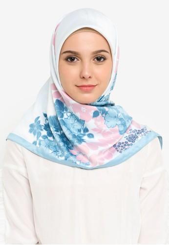 Qasaya blue Long Shawl BA150AAFC8C54FGS_1