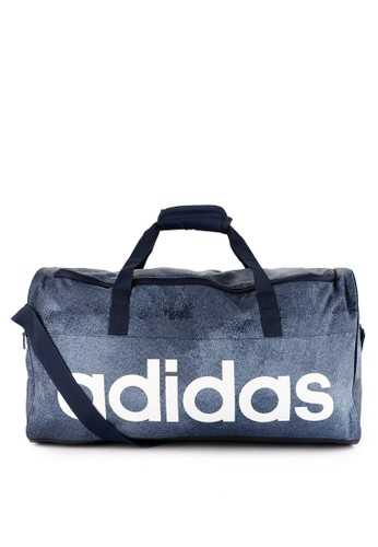 adidas multi and navy adidas linear performance duffel bag medium 9C633AC2FC2622GS_1