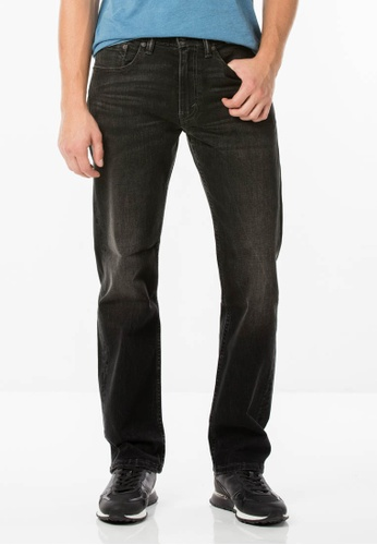 Levi's black 505™ Regular Fit Jeans LE843AA0FLXHSG_1