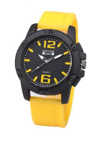 Greatvalueplus yellow Blanchefleur Men's Analog Rubber Watch NYA 319 24448AC94299A9GS_1
