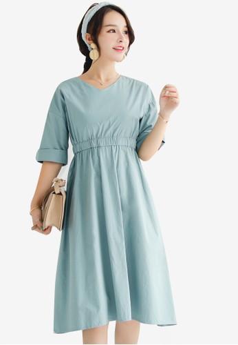 Shopsfashion blue Midi Fit And Flare Dress 64C65AAC711F66GS_1