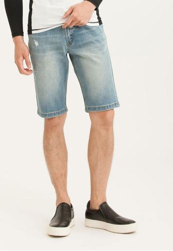 H:CONNECT blue Denim Jeans Shorts B23C8AA1612B91GS_1