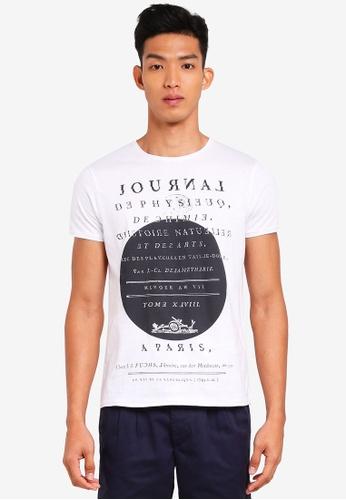 OVS 白色 短袖印花T恤 73A4BAA175E59DGS_1
