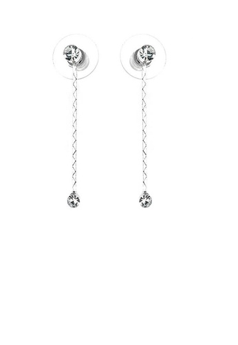 Glamorousky silver Simple Elegant Silver Pair Earrings with Silver Austrian Element Crystals D67F9ACFDB988BGS_1