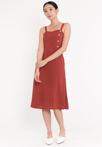 Plain B. pink Plain B. Sleeveless Square Neckline Casual Midi Dinner Dress 71B9CAAEAA191CGS_1