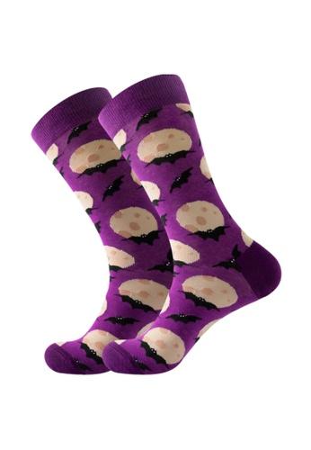 Kings Collection purple Purple Bat pattern Cozy Socks (EU38-EU45) HS202342 6CE43AA9610563GS_1
