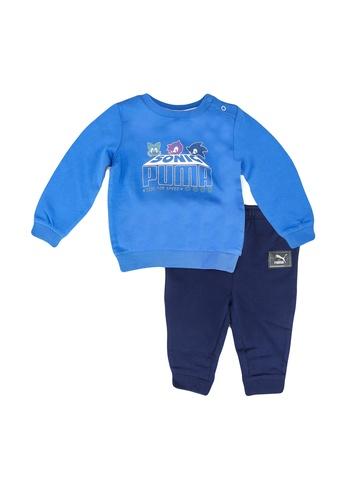 PUMA blue PUMA x SEGA Baby Jogger Set 1DB41KAB49F594GS_1
