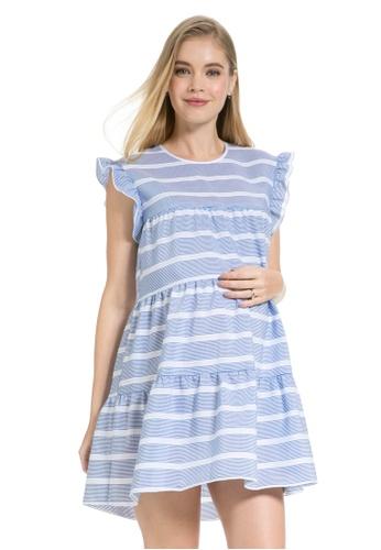 332f6c48477 Mayarya white and blue and multi Sonoma Maternity and Nursing Dress  86814AA74C0F5CGS_1