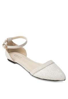 Leah Contrast Ankle Strap Flats
