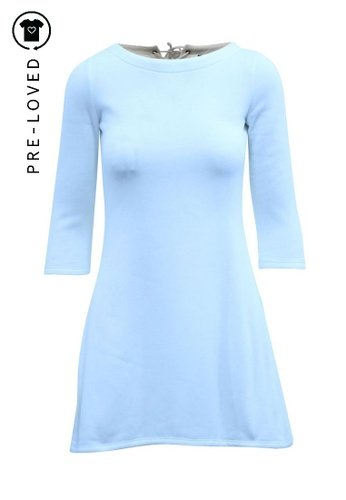 Reformation beige Pre-Loved reformation White Mini Dress with Tie at the Back F7FDAAA80DFDD4GS_1