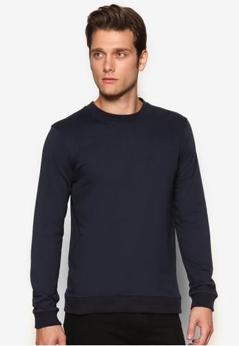 esprit 京站暗紋休閒長袖衫, 服飾, 素色T恤