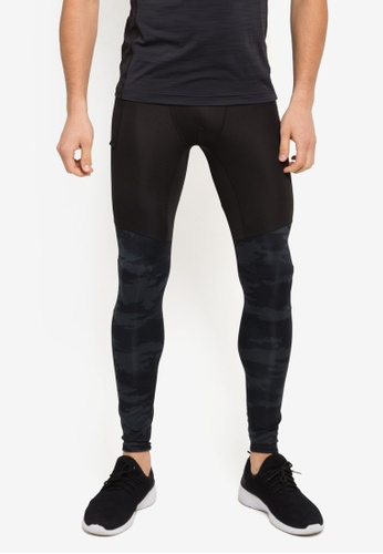 adidas black adidas supernova tko graphic tights AD372AA0SSNHMY_1