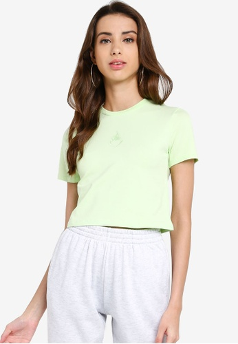 Factorie green Fitted Graphic T Shirtpastel Yellow A7382AA8D8D643GS_1