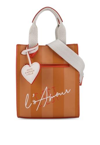 ELLE brown Amour Mini Bag 415EAACCE71A2BGS_1