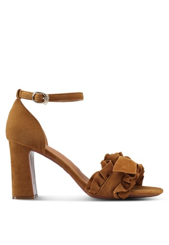 Something Borrowed brown Ruffled Heels C57A1SH18C5AE7GS_1