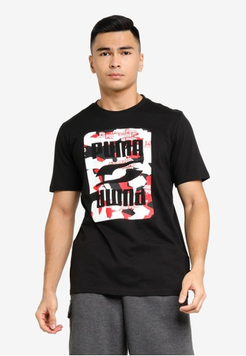 Puma black PUMA Men's Rebel Camo Graphic Tee 5134CAAF83864AGS_1