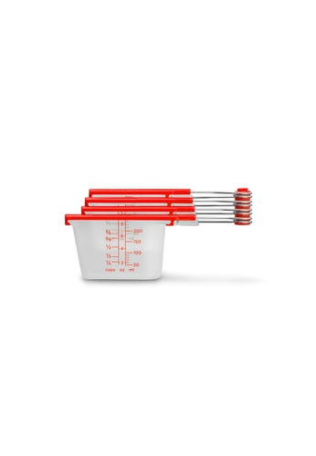 Dreamfarm red Levups - Scrape Level Measuring Cups (Red) AF7E9HL4EDCCACGS_1