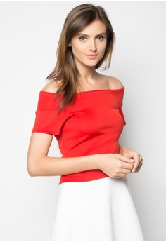 Neoprene off-shoulder