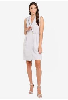 7ff7e72ffb36 10% OFF Miss Selfridge Grey Tuxedo Dress HK$ 560.00 NOW HK$ 503.90 Sizes 6  8 10 12 14