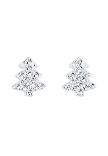 Elli Germany silver Elli Germany Earring Christmas Tree Swarovski Crystals 925 Silver EL474AC0SEUYMY_1