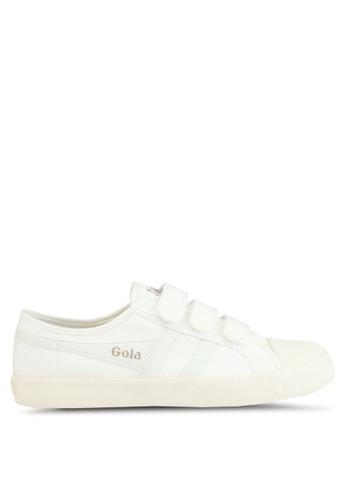 Gola white Coaster Velcro Sneakers E6DDCSHA90A38AGS_1