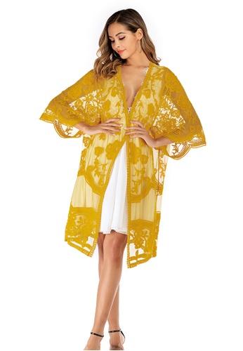 LYCKA yellow LTH4100-European Style Beach Robe-Yellow 88107US6CC0A1DGS_1