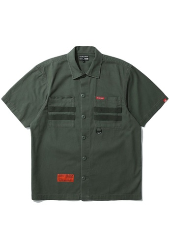 izzue green Army tape pocket shirt 2A272AA2001BE9GS_1