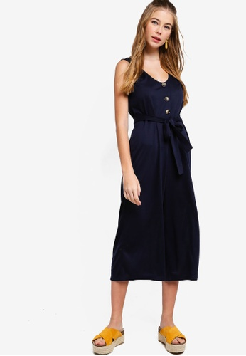 Something Borrowed navy Straight Neck Relaxed Jumpsuit 87B60AA1A04993GS_1