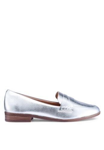 Anacapri 銀色 金屬感樂福鞋 EA1F7SH4C69D43GS_1