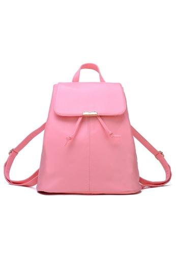 Vince pink Korean Designed Minimalist BackPack ( Pink ) VI456AC94AZLMY_1