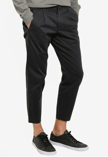 Abercrombie & Fitch navy Fixed Pleated Pants 3ADC9AA9186965GS_1