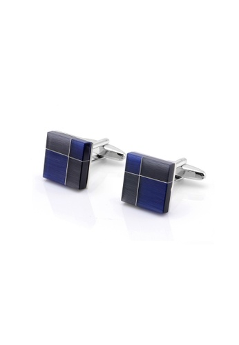 Kings Collection blue Square Opal cufflinks D3431AC019B04AGS_1
