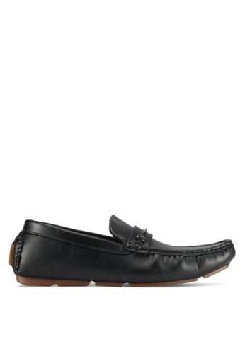 UniqTee black Slip On Loafer With Hardware 6A118SHA7AAB2EGS_1