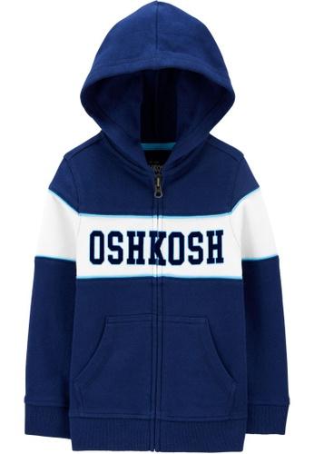 Oshkosh B'gosh blue OSH KOSH Boy Pieced Logo Hoodie E3889KAF1555FCGS_1