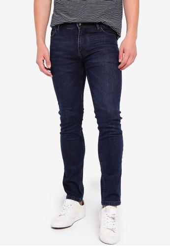 MANGO Man 藍色 修身牛仔褲 17D36AAC815839GS_1