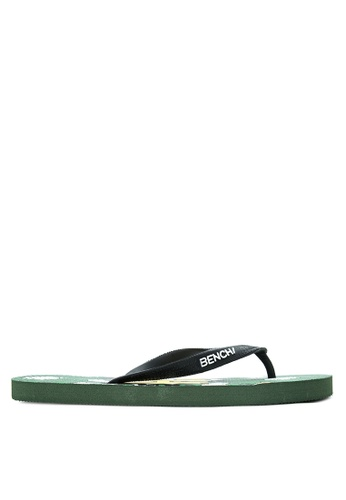 BENCH green Printed Rubber Slippers BE550SH23LSYPH_1