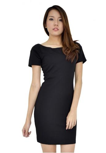 MOONRIVER black Carrie Off Shoulder Bodycon Dress MO886AA23SRKSG_1